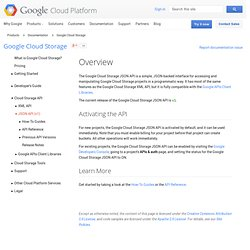 Cloud Storage API version 1 (experimental) - Google Cloud Storage - Google Code