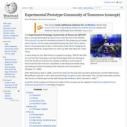 Experimental Prototype Community of Tomorrow (concept)