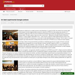 Un label expérimental énergie-carbone - 17/11/16