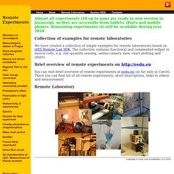 iSES - Internet School Experimental System: Remote Laboratory