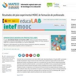 Resultados del plan experimental MOOC de formación de profesorado
