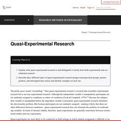 Quasi-Experimental Research – Research Methods in Psychology