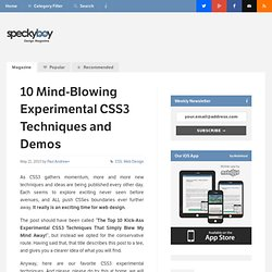 10 Mind-Blowing Experimental CSS3 Techniques and Demos-Speckyboy Design Magazine