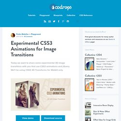 Experimental CSS3 Animations for Image Transitions