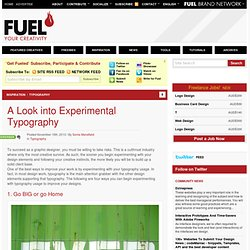 A Look into Experimental Typography