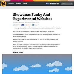 Showcase: Funky And Experimental Websites