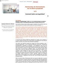 La démarche expérimentale de Semmelweis 1
