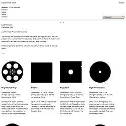 Lost Formats - Experimental Jetset