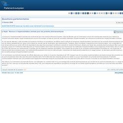 Recours à l'expérimentation animale pour les produits pharmaceutiques - E-0561/2006