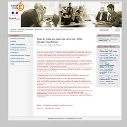 Foad et mise en place de réforme, bilan d'expérimentation - Académie-Toulouse
