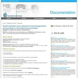 Expérimentation d'une séquence d'accompagnement personnalisé en information-documentation