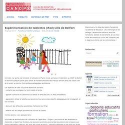 Expérimentation de tablettes (iPad) ville de Belfort