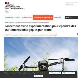 MAA 23/10/19 Lancement d'une expérimentation pour épandre des traitements biologiques par drone