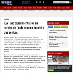 IDA : une expérimentation au service de l'autonomie à domicile des seniors