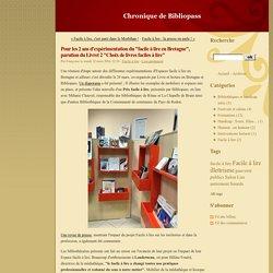 """Pour les 2 ans d'expérimentation du """"facile à lire en Bretagne"""", parution du Livret 2 """"Choix de livres faciles à lire"""" - Chronique de Bibliopass"""