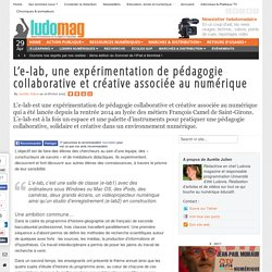 L'e-lab, une expérimentation de pédagogie collaborative et créative associée au numérique
