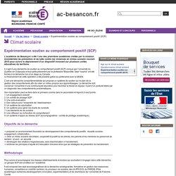 Expérimentation soutien au comportement positif (SCP) - Rectorat de l'académie de Besançon - Vie scolaire