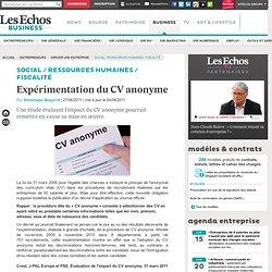 Expérimentation du CV anonyme