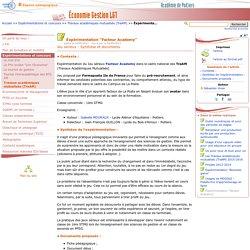 """Éxpérimentation """"Facteur Academy""""- Economie Gestion LGT"""