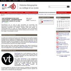 Une expérimentation avec VoiceThread : l'interactivité différenciée en associant l'écrit et la voix