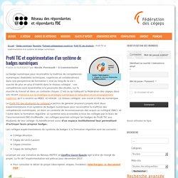 Profil TIC et expérimentation d'un système de badges numériques