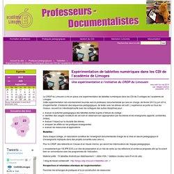 left>Expérimentation de tablettes numériques dans les CDI de l'académie de Limoges
