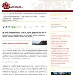 De l'expérimentation à l'institutionnalisation : l'habitat participatif à un tournant