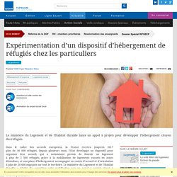 Expérimentation d'un dispositif d'hébergement de réfugiés chez les particuliers