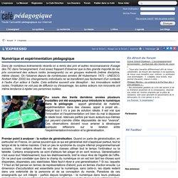 ARTICLE - Duvauchelle - Numérique et expérimentation pédagogique