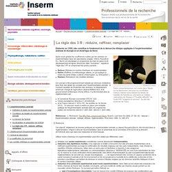 Expérimentation animale - La règle des 3 R : réduire, raffiner, remplacer