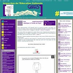 IEN St Gervais / Pays du Mont-Blanc - Une expérimentation robotique à l'école du Fayet