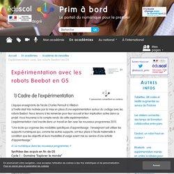 Expérimentation avec les robots Beebot en GS - Prim à bord