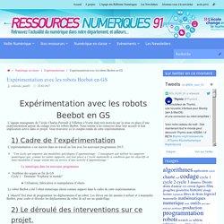 Expérimentation avec les robots Beebot en GS