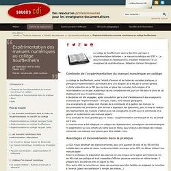 Expérimentation des manuels numériques au collège Soufflenheim