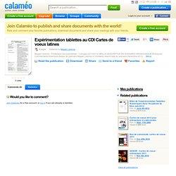 Expérimentation tablettes au CDI Cartes de voeux latines