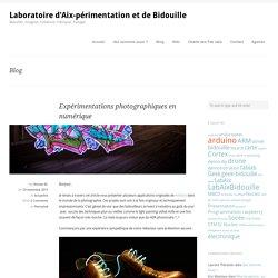 Expérimentations photographiques en numérique