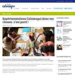 Expérimentations Calamagui dans vos classes : c'est parti !