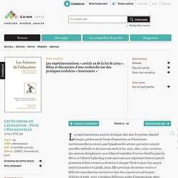Les expérimentations «article34 de la loi de 2005». Bilan et discussion d'une recherche sur des pratiques scolaires «innovantes»