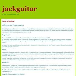 musique, guitare, harmonie, théorie, composition, expérimentations, technique » Improvisation