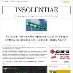 « Saisissant : le résultat des expérimentations des banques centrales en 4 graphiques !! » L'édito de Charles SANNAT