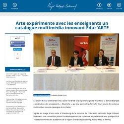 Arte expérimente avec les enseignants un catalogue multimédia innovant Educ'ARTE