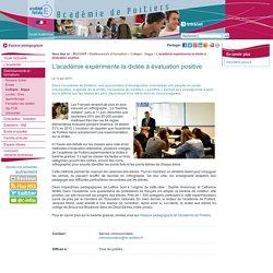 L'académie expérimente la dictée à évaluation positive
