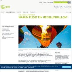 Experimente im DaF-Unterricht: Warum fliegt ein Heißluftballon?