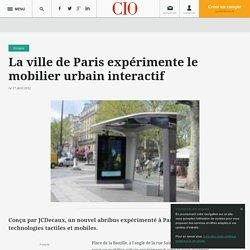 La ville de Paris expérimente le mobilier urbain interactif