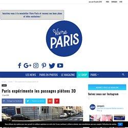Paris expérimente les passages piétons 3D
