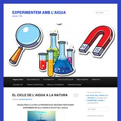 EXPERIMENTEM AMB L'AIGUA