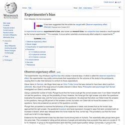Experimenter's bias