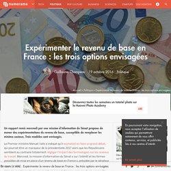 Expérimenter le revenu de base en France : les trois options envisagées - Politique
