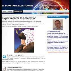 Expérimenter la perception