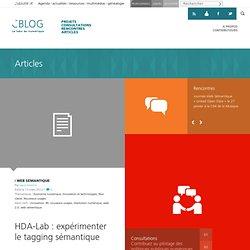 HDA-Lab: expérimenter le tagging sémantique